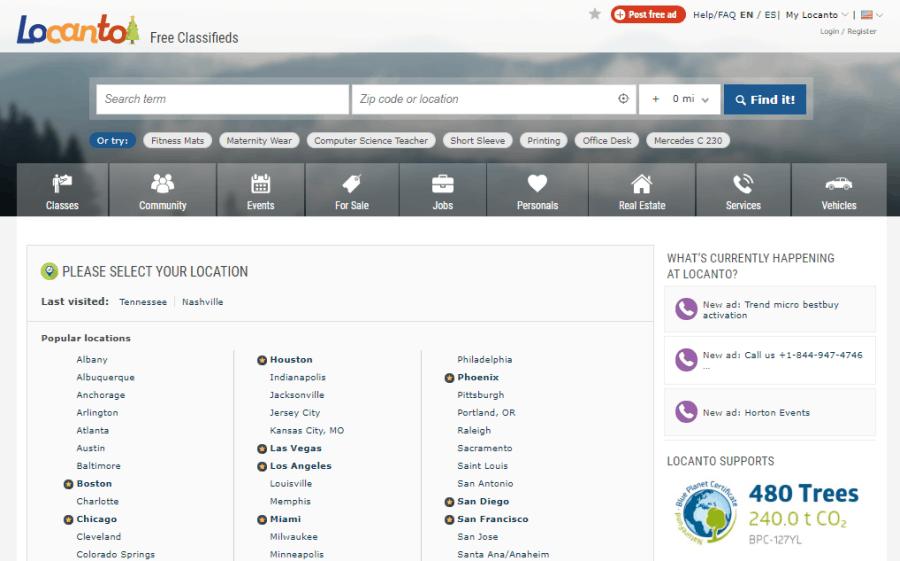 locanto main page
