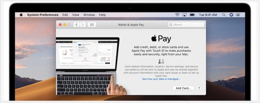 macOS add Apple Pay