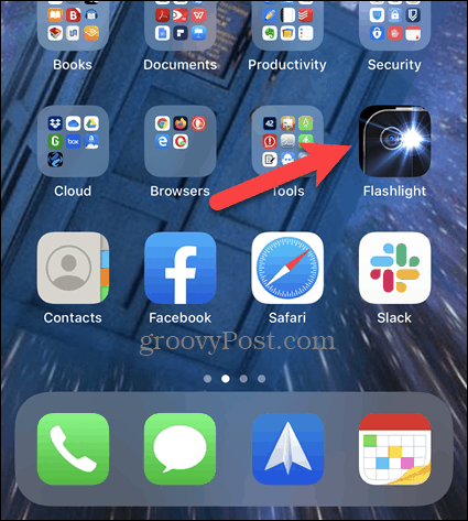 Long press an icon on the iPhone home screen