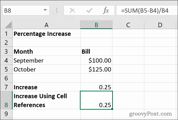How to Calculate Percentage Increases or Decreases in Excel