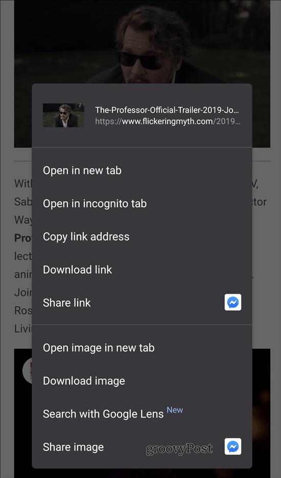 Google Lens Chrome search