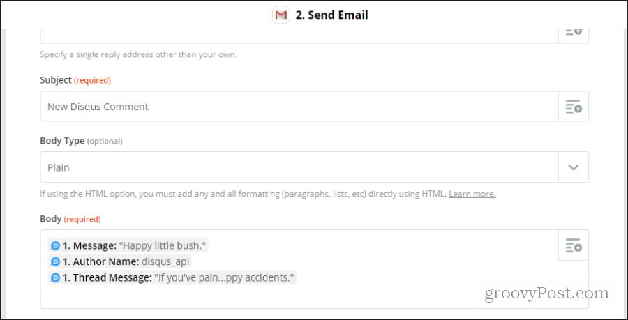 customize disqus email