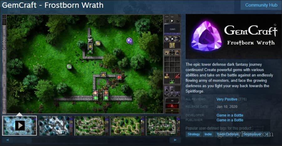 gemcraft game on steam
