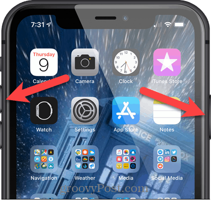Take a screenshot on an iPhone using buttons