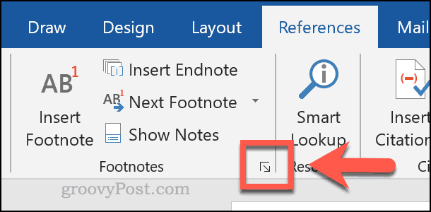 Customizing footnotes and endnotes in Word
