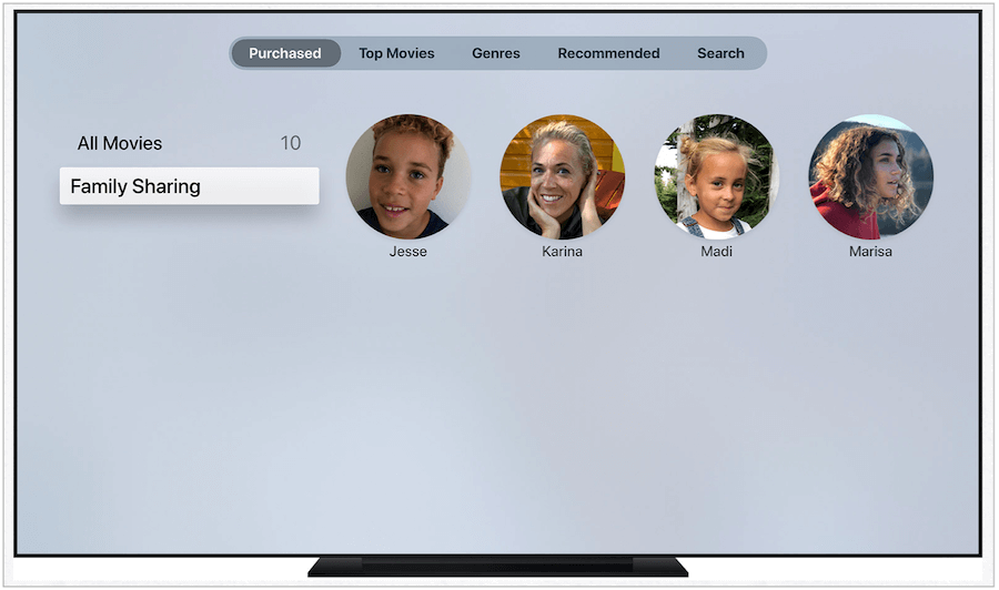 Apple TV sharing