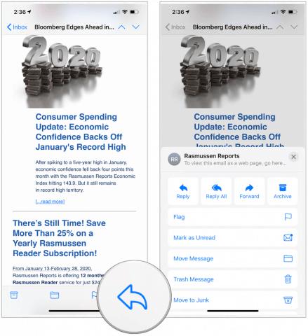 iOS 13.4 mail toolbar