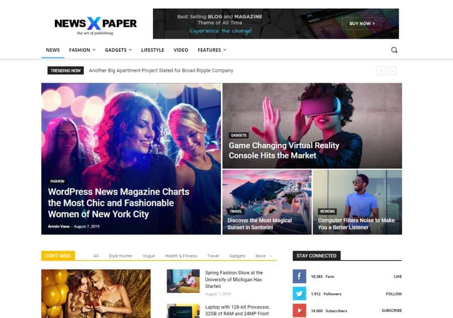newspaper blog theme
