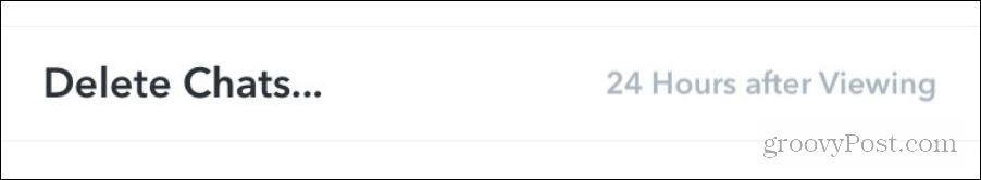 Delete Snapchat Chats