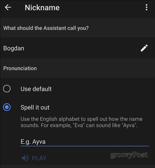 Google Home name pronounce