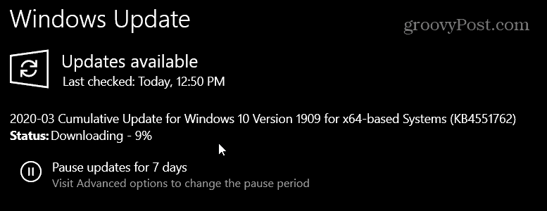 KB4451762 for Windows 10 1903 and 1909