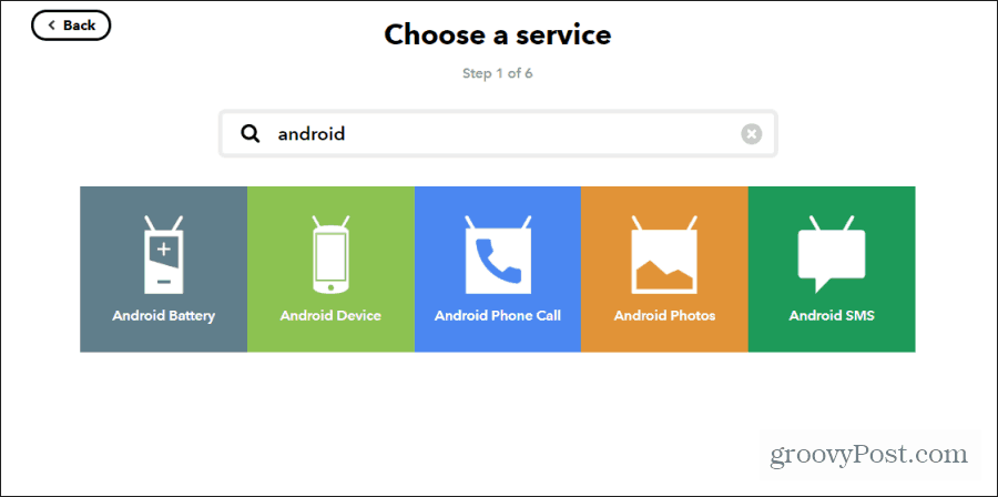android device ifttt