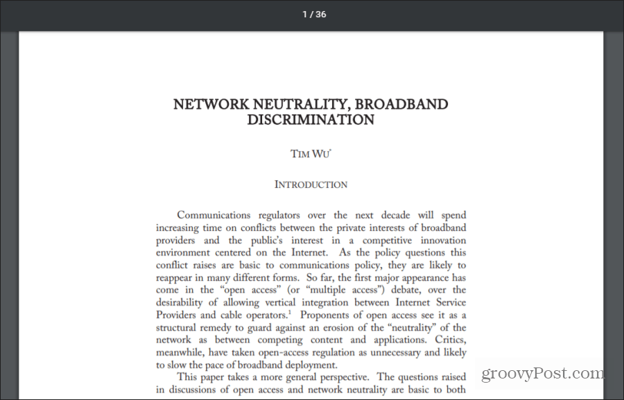 broadband discrimination
