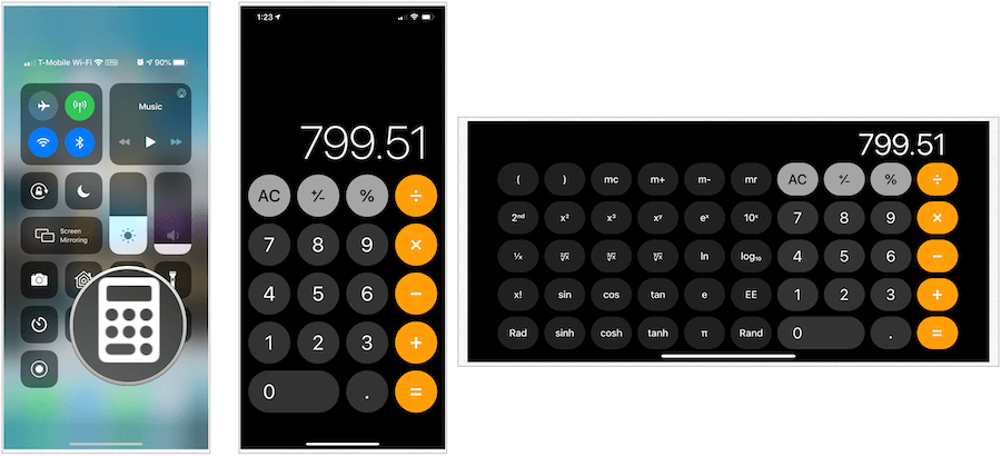 iPhone calculators