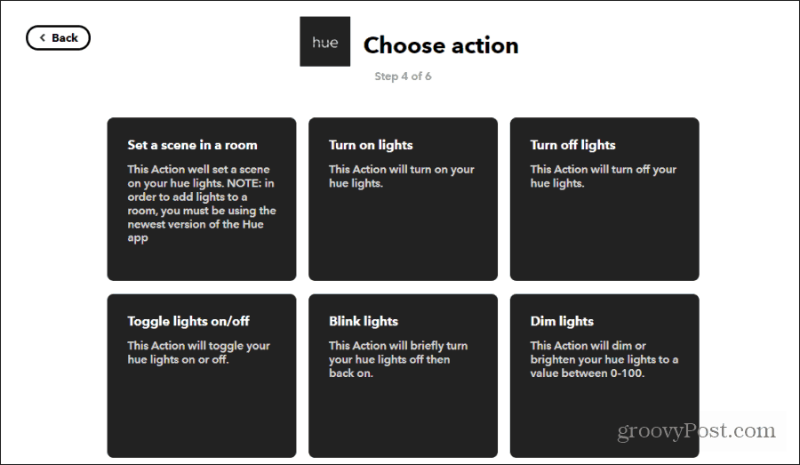 philips hue actions