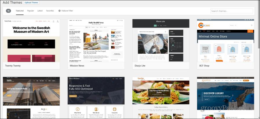 installing a free WordPress theme