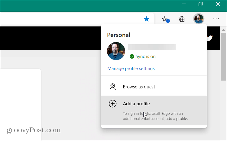 Add user profile Edge