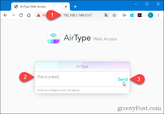 Using AirType in the browser