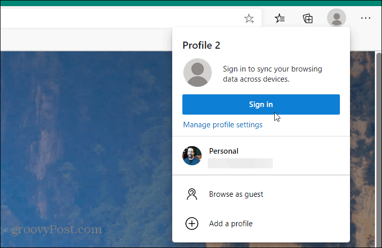 add user profile microsoft edge