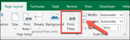 Excel Print Tiles option