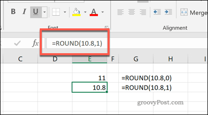 The ROUND function in Excel