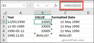The VALUE Function in Excel