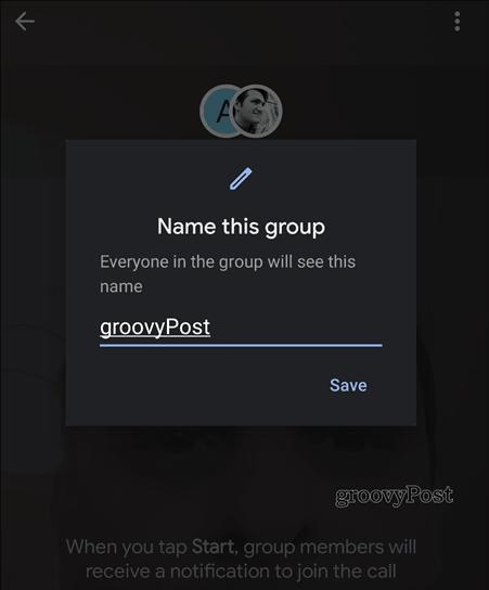 Google Duo group name