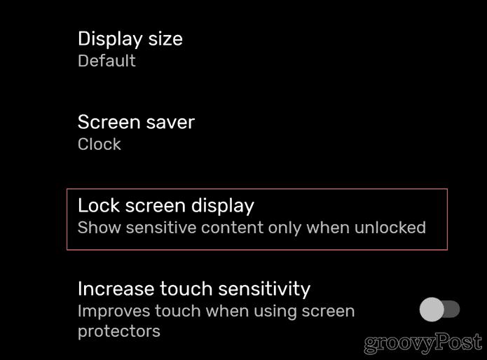Now Playing Google Pixel Display lock screen