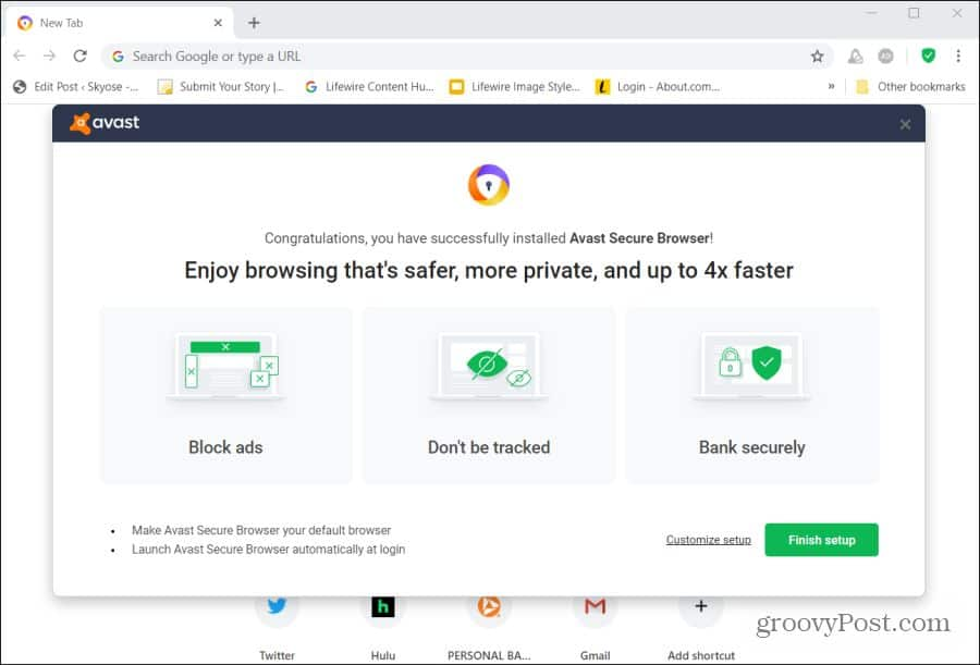 Avast Secure Browser Isn T Better Than Chrome And That S A Good Thing
