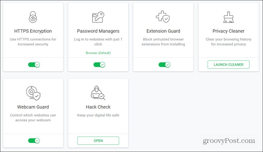 security and privacy features