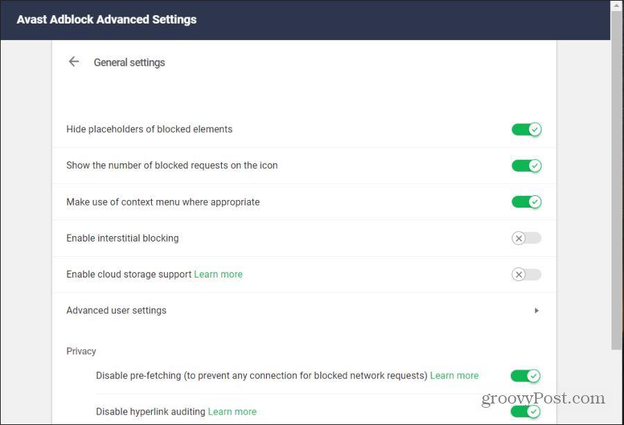 adblock advanced settings