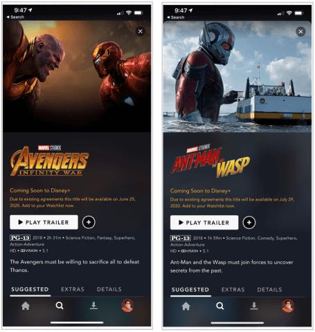 Disney Plus Marvel films coming in 2020