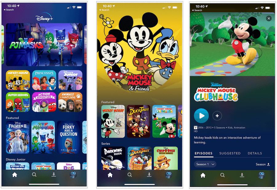 Disney Plus Pre-School titles