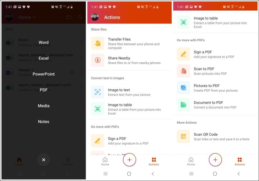 office mobile features
