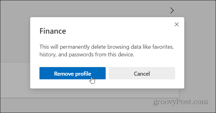 remove profile microsoft edge