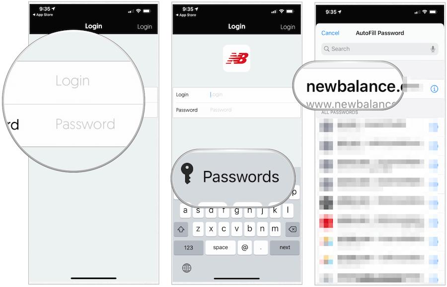 Using iCloud Password on iOS