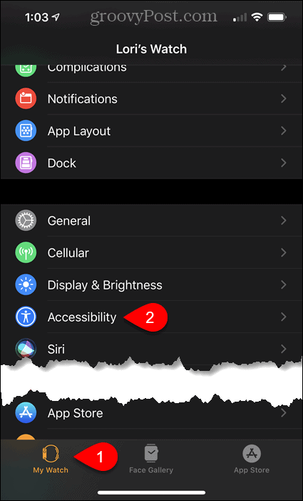 Tap Accessibility in Settings on iPhone