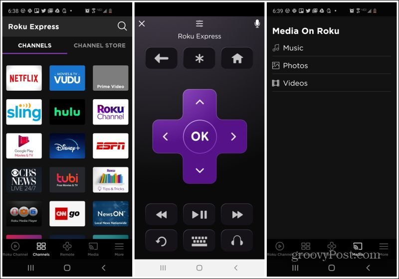 Roku mobile remote