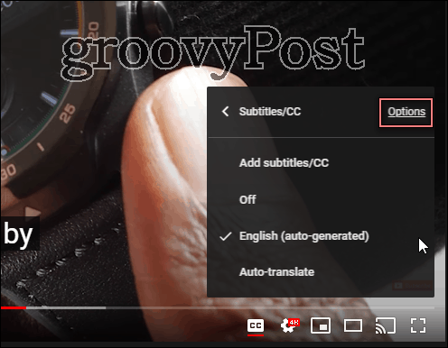 Youtube captions font customize settings options