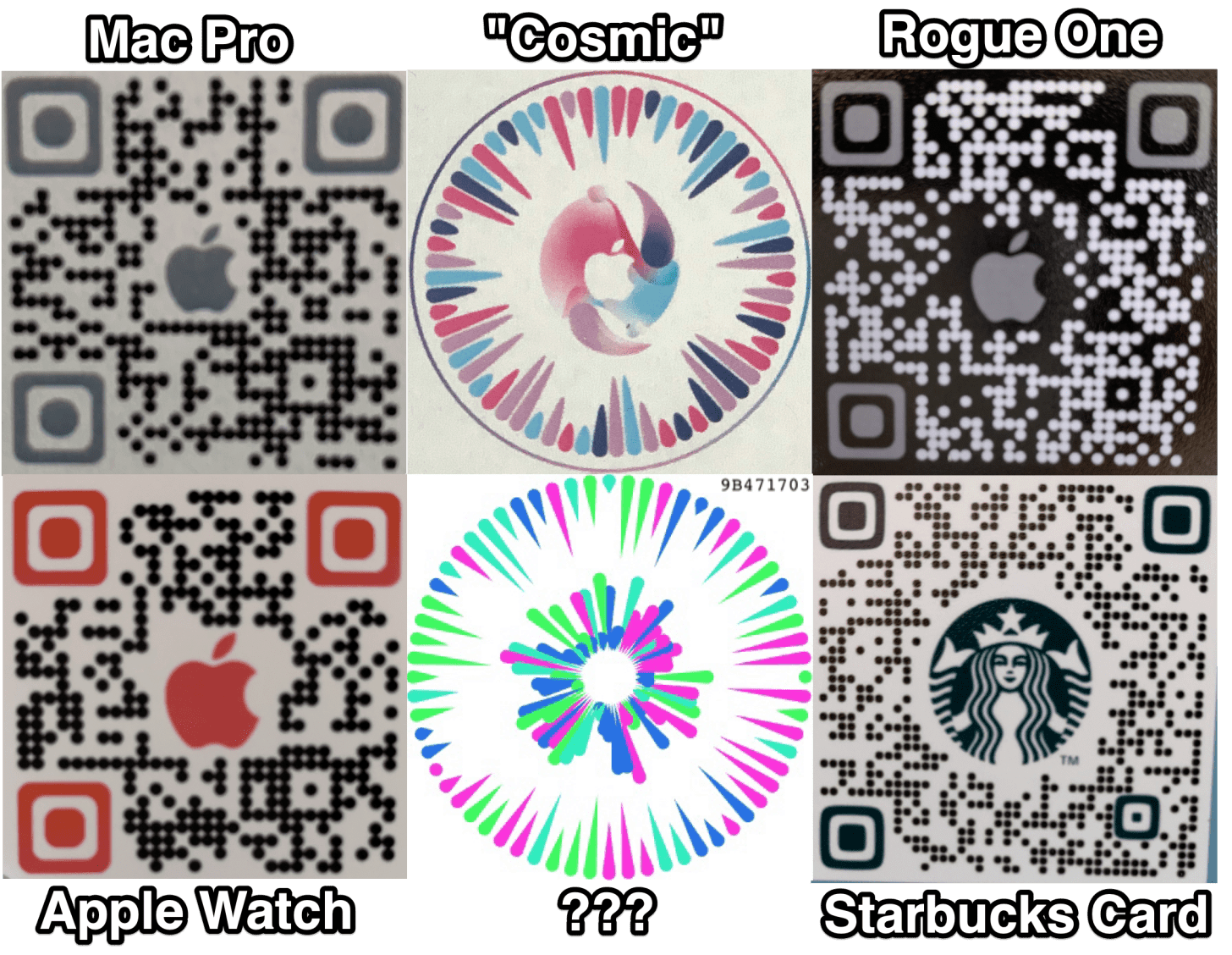 Apple proposed QR codes