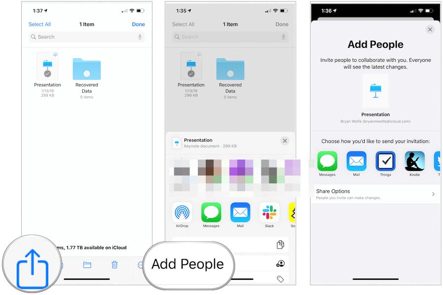 Files app sharing
