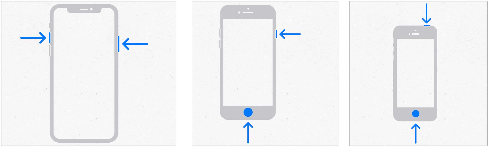 iPhone create screenshots