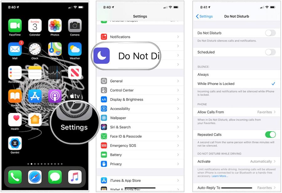 iPhone Do Not Disturb tool
