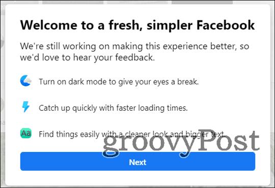 new facebook dark mode new fb
