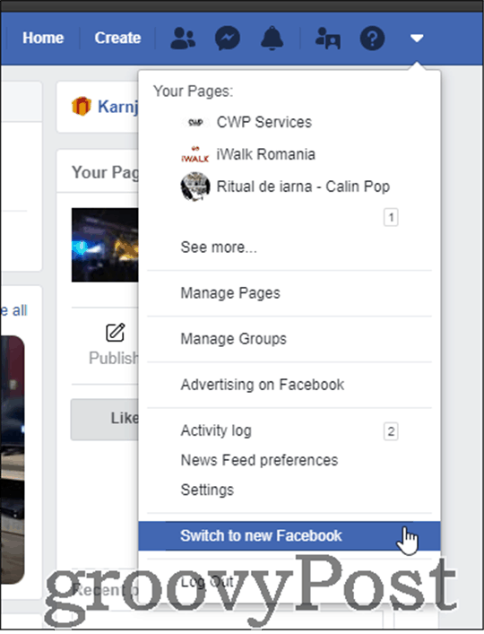 new facebook dark mode