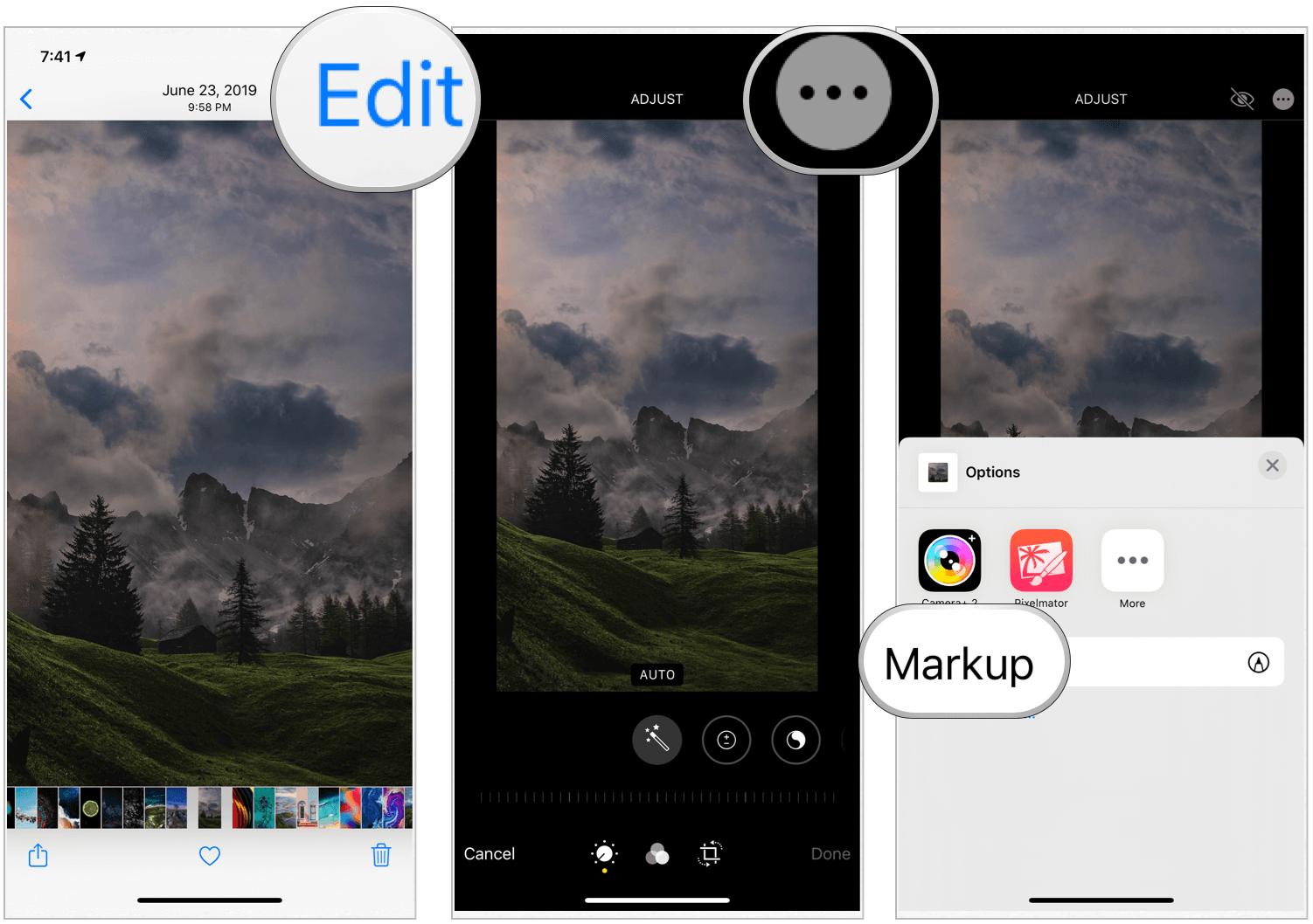 Photos app Markup
