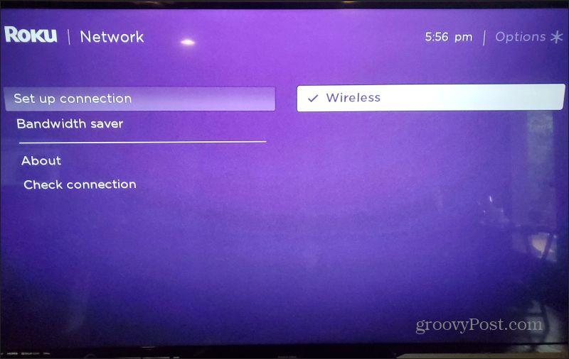 roku network setup