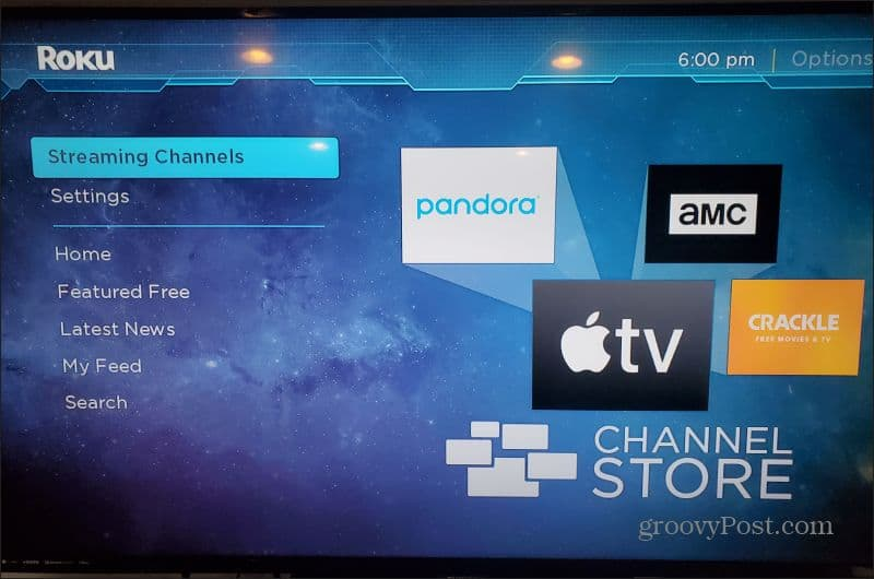 roku streaming channels