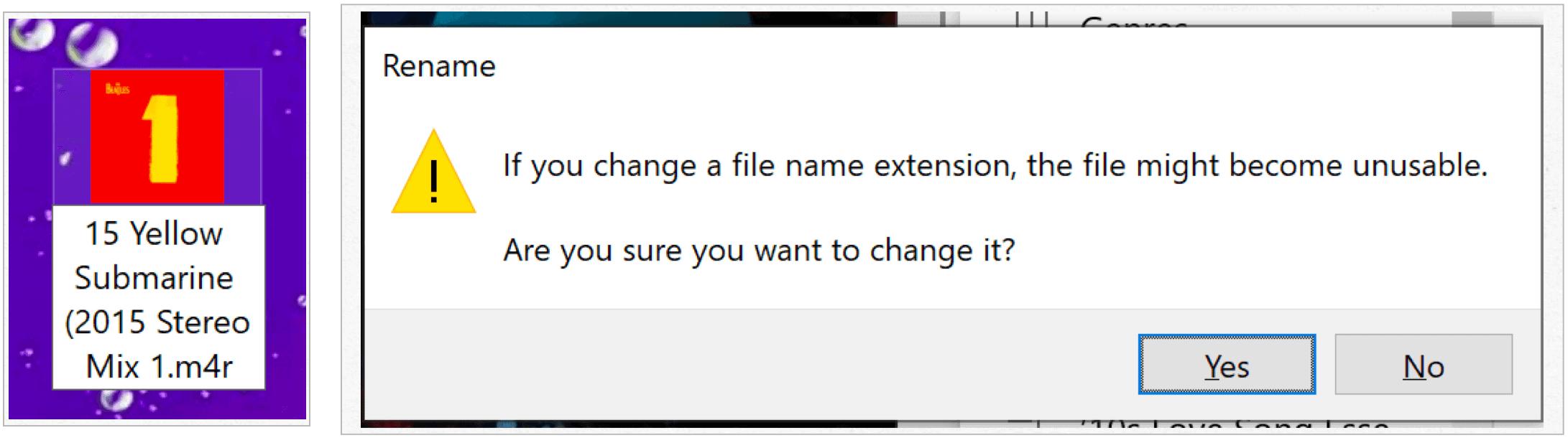 Windows confirm file extension change