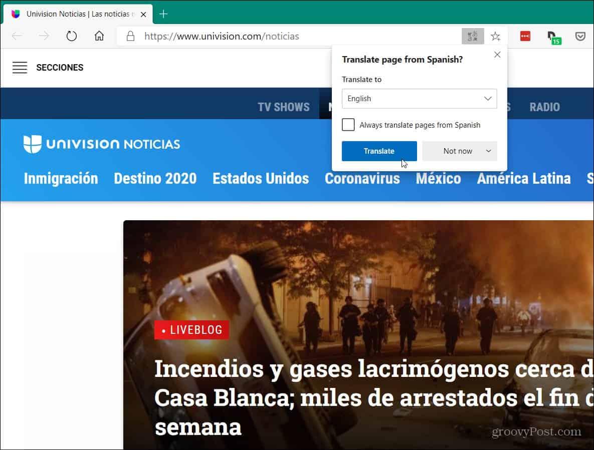 Microsoft Translator Microsoft Edge
